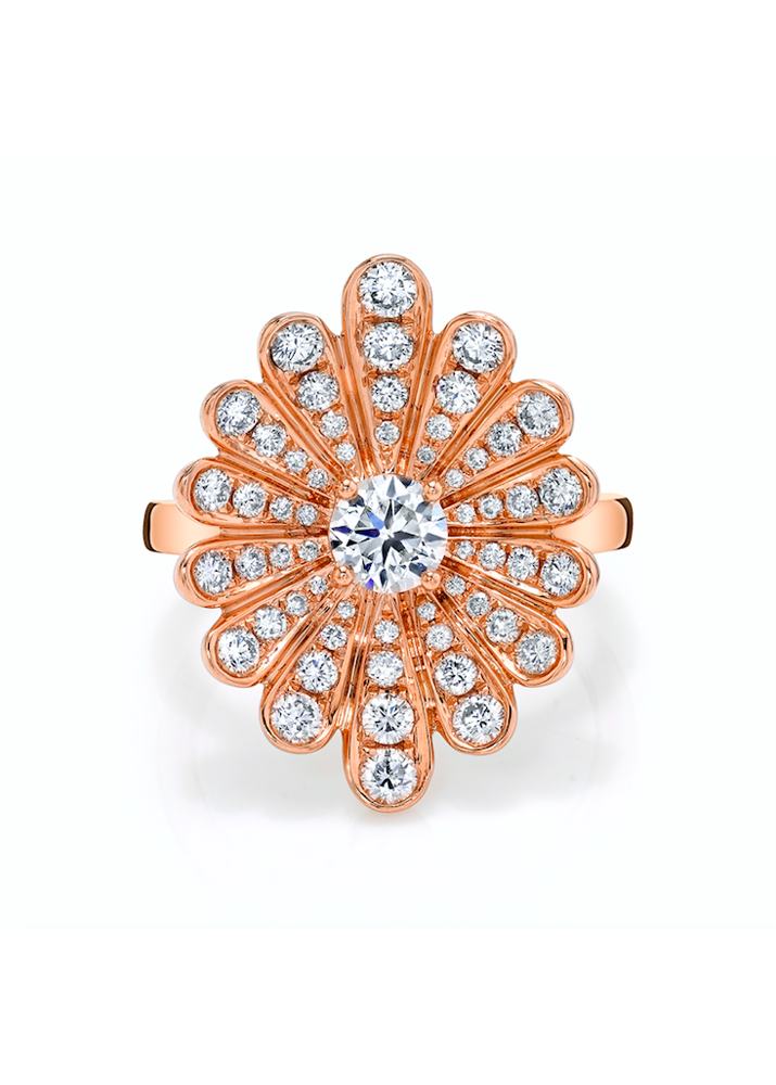 ANITA KO _ Diamond Water Lily Ring