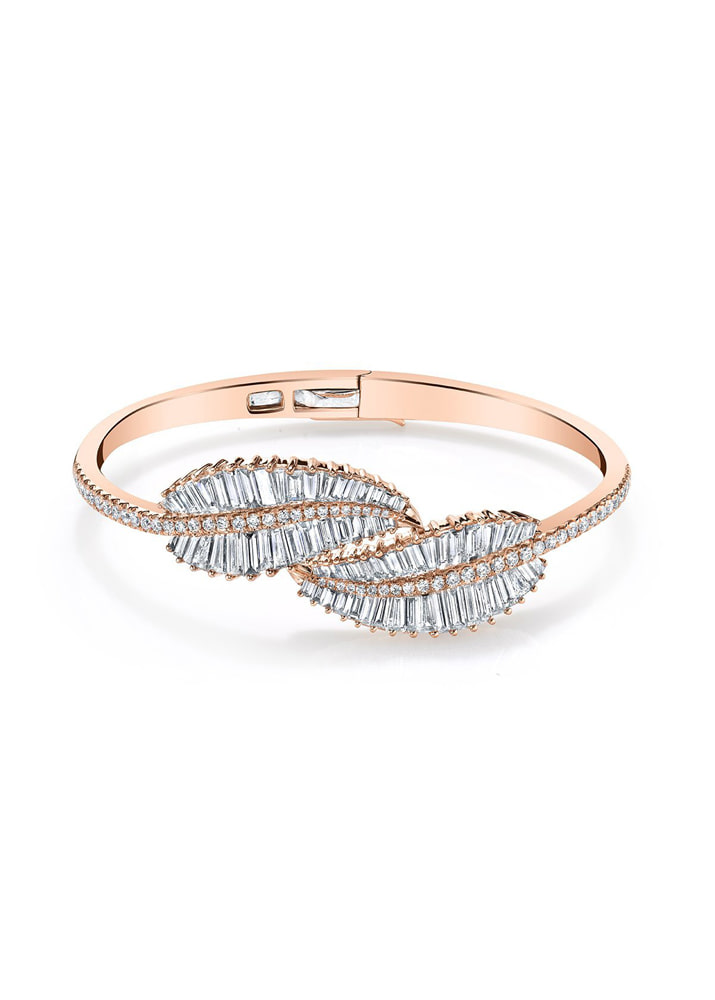 ANITA KO _ Palm Leaf Diamond Bracelet