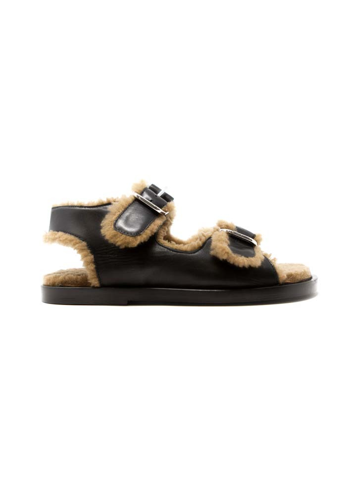FUR DELUXE _ Meribel Sandals Black / Camel (★Pre-Order 배송기간 확인★)