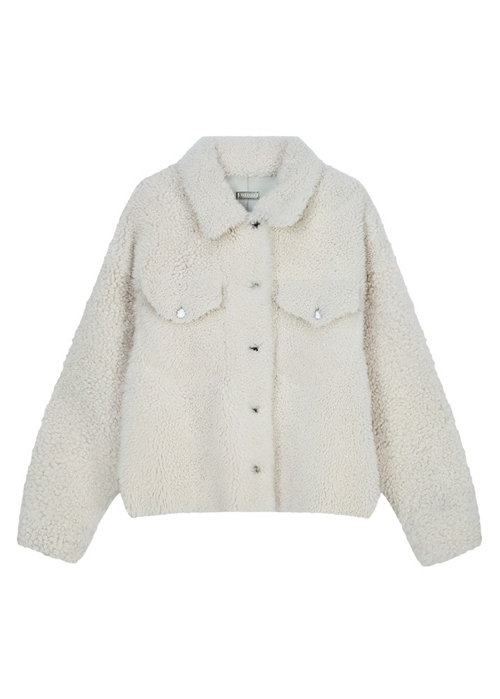 UTZON _ Justin Shearling Jacket Lacon Cashmere White