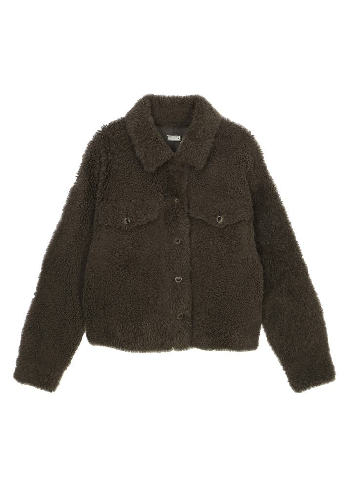 UTZON _ Justin Shearling Jacket Lacon Cashmere Dark Brown