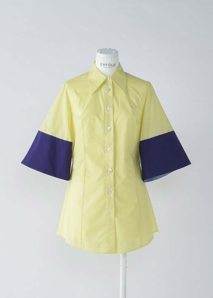 ENFOLD _ Subin Type Writter Wide Sleeve Shirt